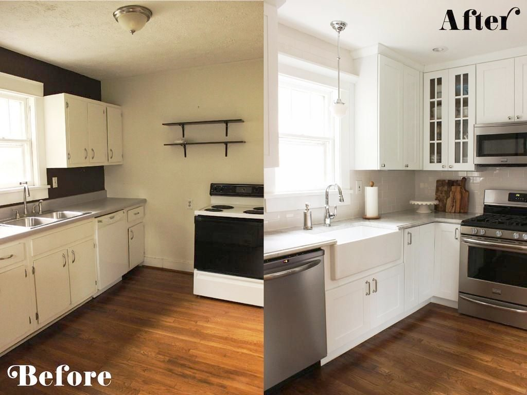 Attractive Kitchen Remodel Ideas Before And After Tiny Farmhouse Stunning Difference In