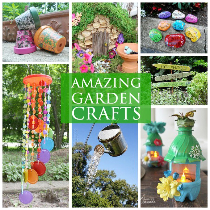 Awesome Garden Crafts To Make   Lots Of Garden Crafts That You Can Make! Create Your Own Garden Decorations  With These