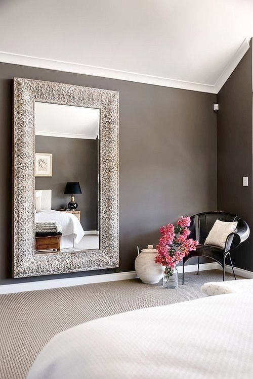 Awesome Large Pictures For Bedroom   Bedroom. Tall Mirror Instantly Make The Room Taller, Bigger And Lighter.