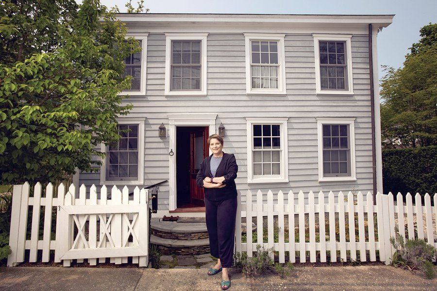 Awesome Sag Harbor Homes For Sale   Preservationist Mia Grosjean In Front Of Her 19th Century Cottage In Sag  Harbor, 2016