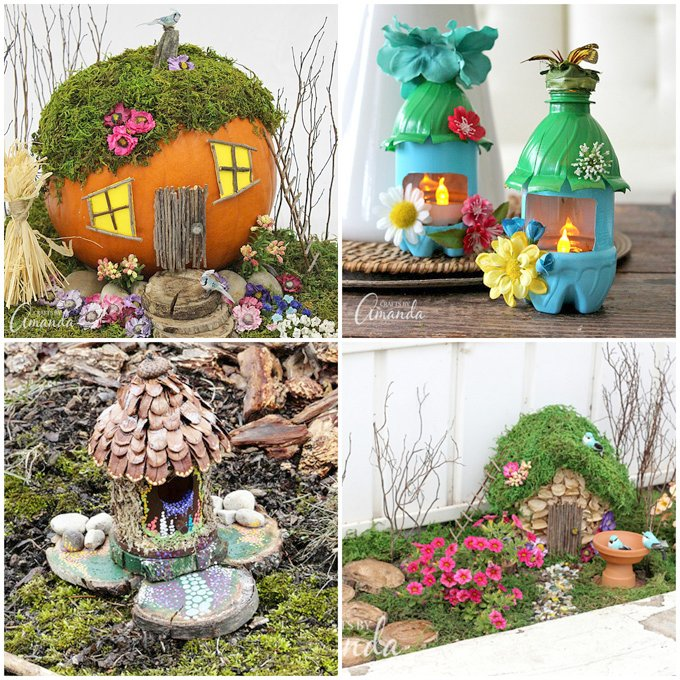 Garden crafts to make home design for Garden decorations to make