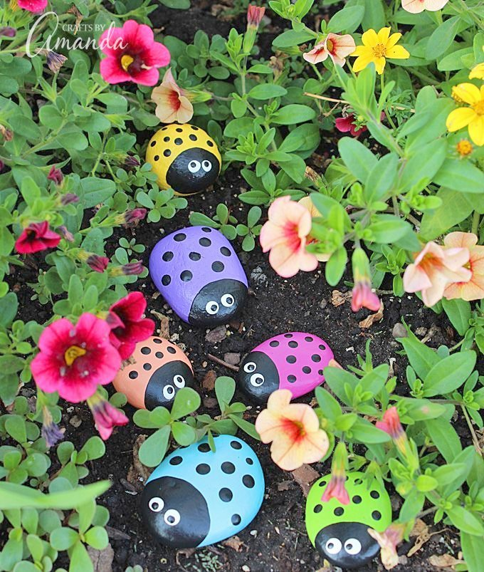 Garden Crafts To Make   Learn To Make These Adorable Ladybug Painted Rocks. Use Special Outdoor  Paint For This Adorable
