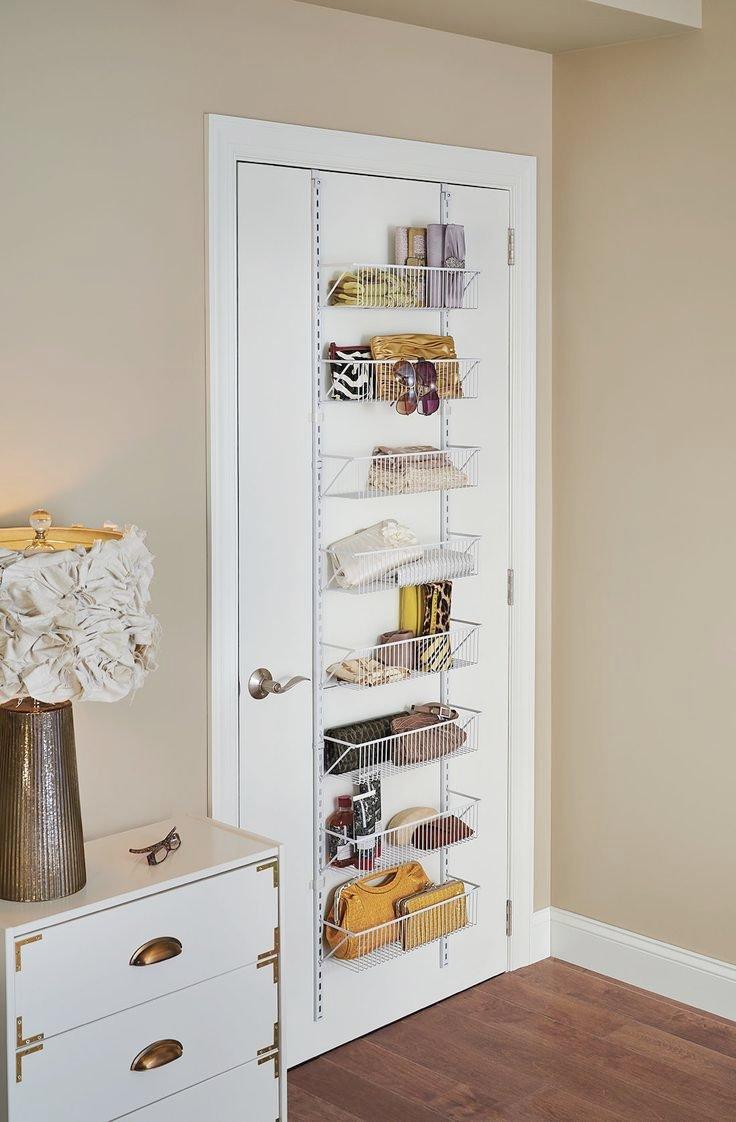 Hang Over Door Shelves ClosetMaid Adjustable Wall And Door Basket Hanging  Organizer