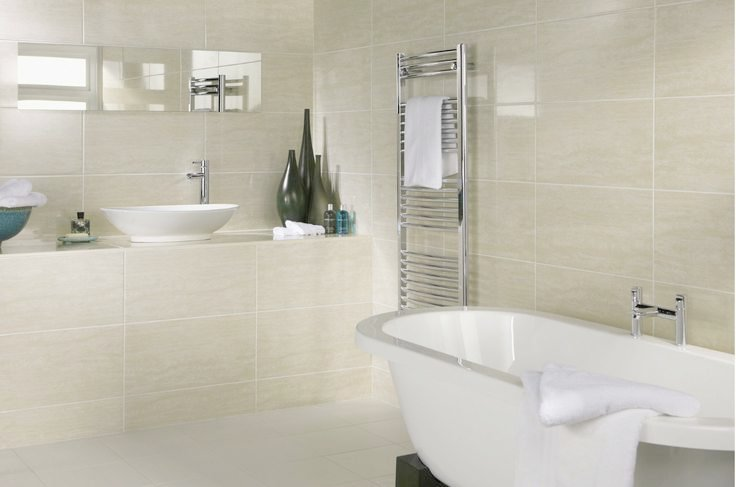 Lovely Big Tiles In Small Bathroom   Small Bathroom Tile Idea # 1: Choose Large Tiles