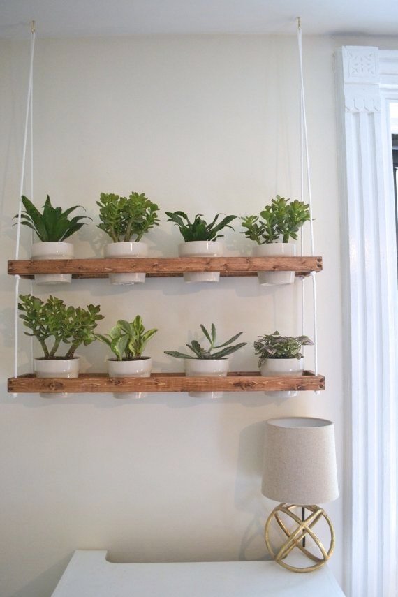 Marvelous Indoor Wall Mounted Plant Holders   2 Tier Hängende Indoor Wand Pflanzer (kundenspezifisch Konfektioniert). Indoor  Hanging PlantersIndoor Window PlanterWindow Shelf For PlantsDiy Wall ...