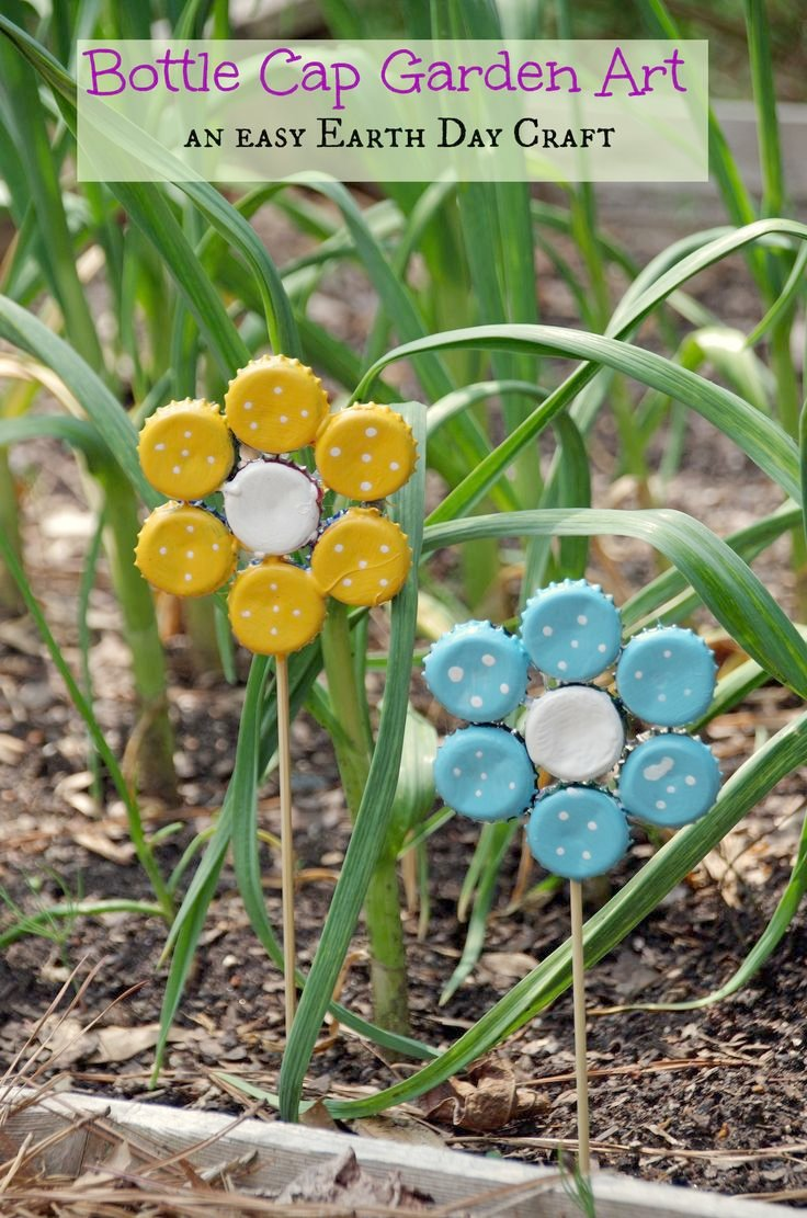 Nice Garden Crafts To Make   17 Creative Ways To Reuse Old Bottle Caps