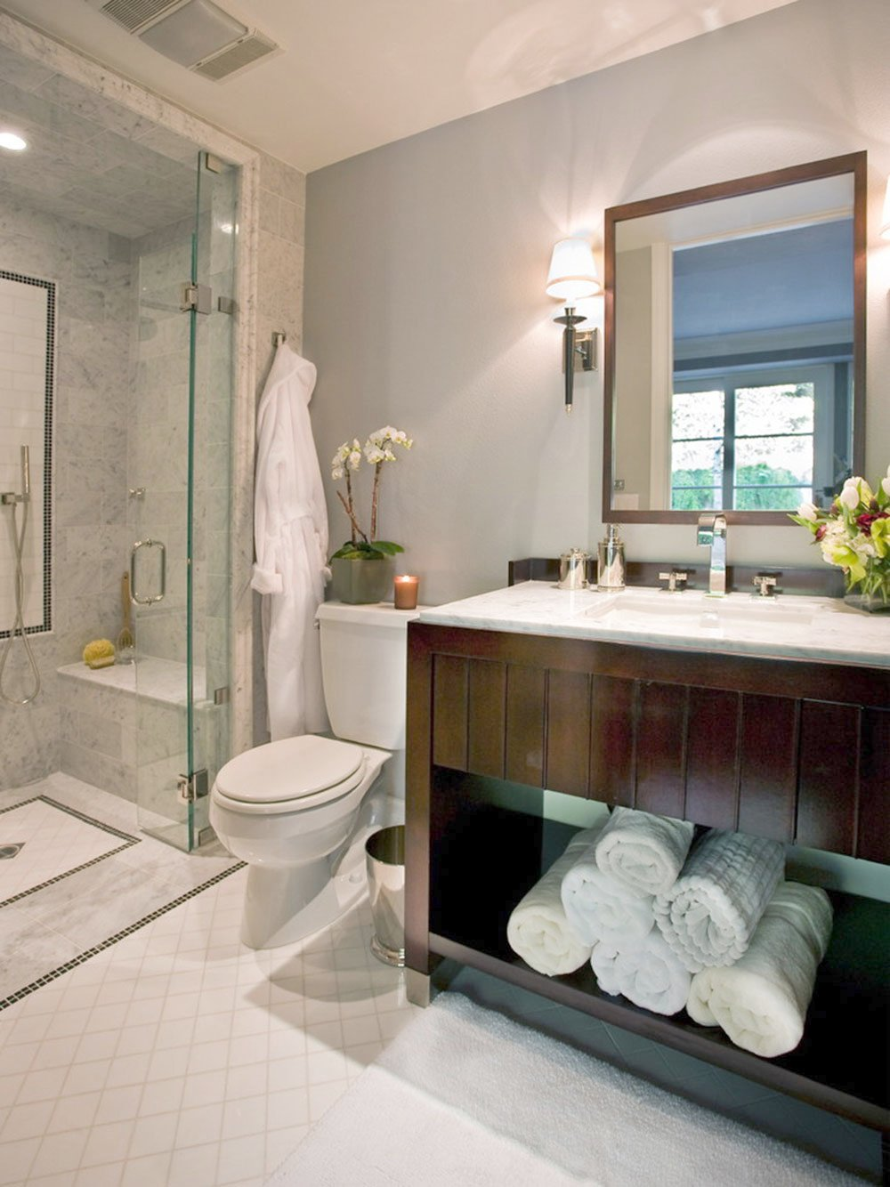 Nice Guest Bathroom Design   Modern Bathroom Ideas To Impress Your Guests1 Powder Room Ideas