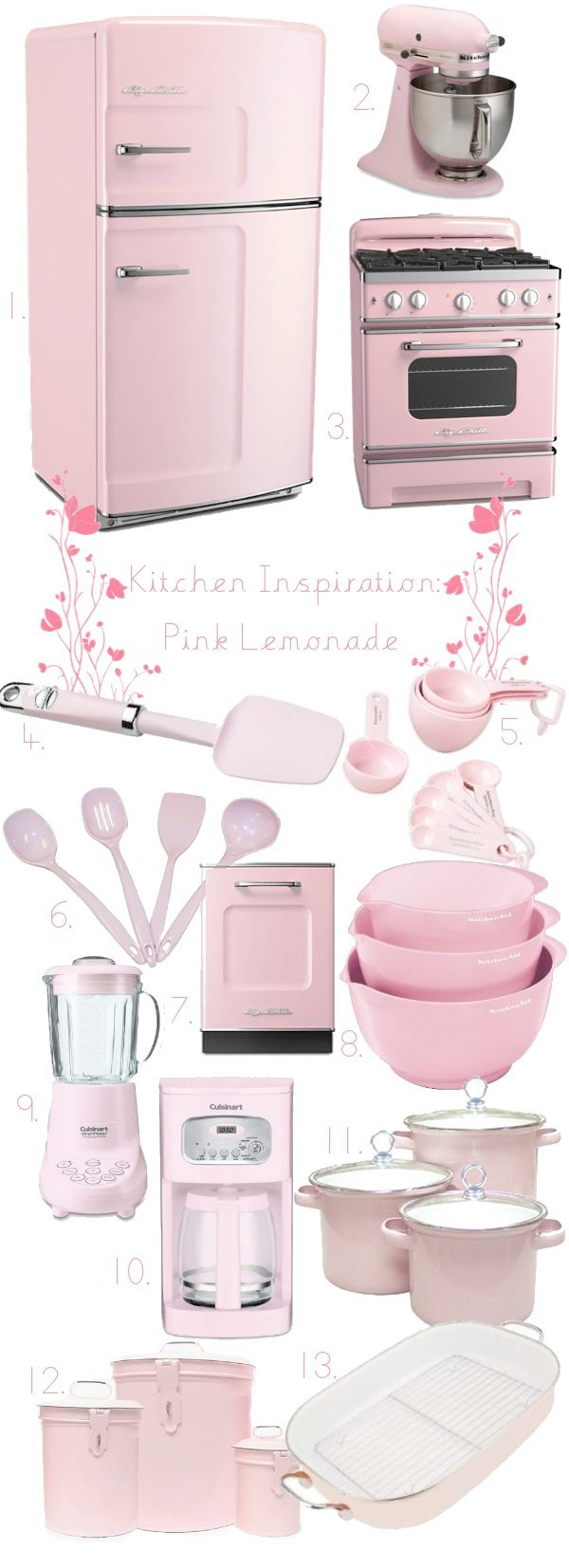 Pink Kitchen Things   Unfortunately Iu0027m Married And If I Bought Any Of These Things In Pink It