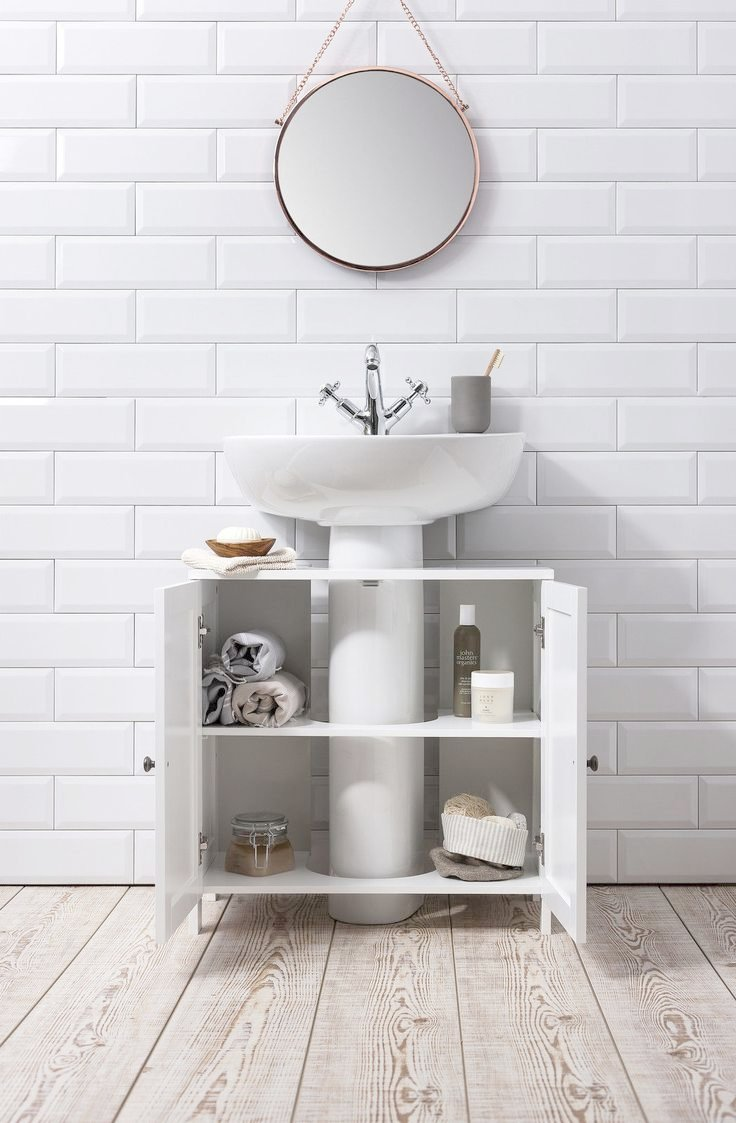 Sink Cabinet Bathroom   Bathroom Sink Cabinet Undersink In White Stow