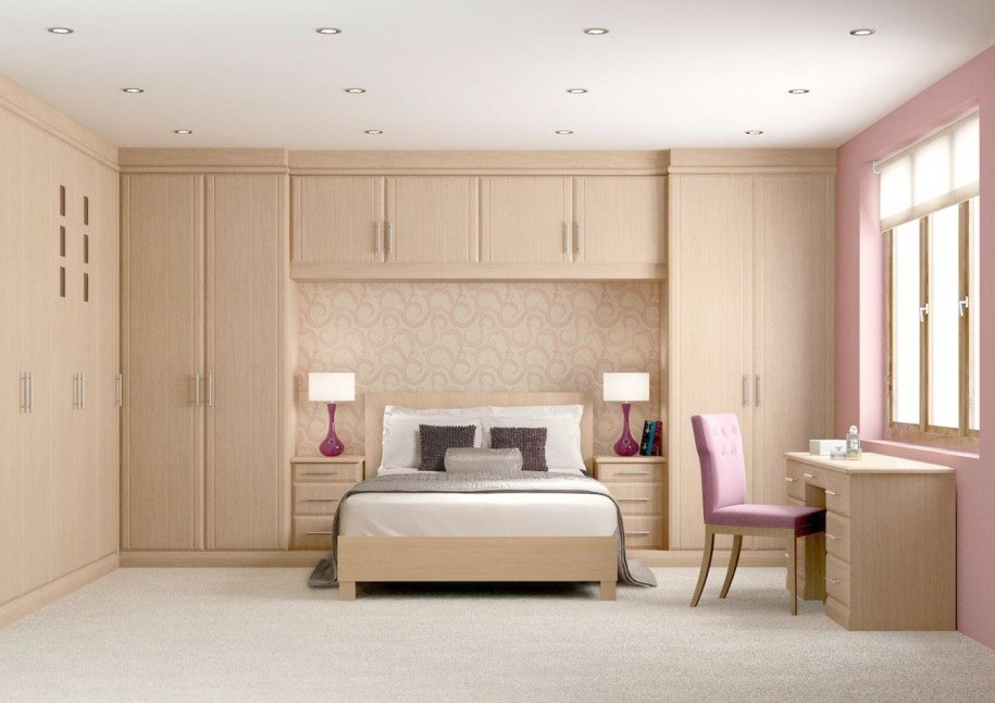 Wall Mounted Cupboards Bedroom Awesome Bedroom Design With Wooden Wall Mounted Wardrobe Cabinets Also Office Desk With Pink Chair: