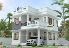 Amazing Homedesign   Neat Simple Small House Plan Kerala Home Design Floor Plans