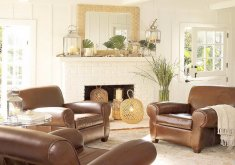 Amazing Leather Furniture Decor Living Room   Ideas For Decorating A Living Room: Ideas For Decorating A Living Room With  Brown Leather