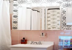 pink tiles for bathroom
