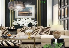 zebra decor for living room