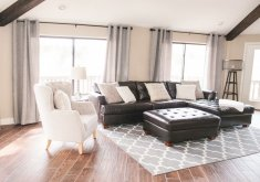 Attractive Leather Furniture Decor Living Room Our Vacation Home In Flagstaff. Black Couch DecorBrown ...