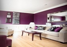 pictures of purple living rooms