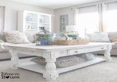 white living room table sets