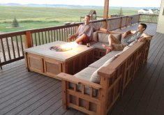 Awesome Rustic Patio Furniture Sets   Craftsman Patio Furniture Sets On Contemporary Deck