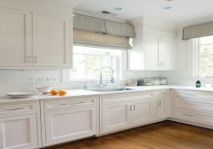 Beautiful Window Coverings For Kitchen   Coordinated Charm. Fabric Based Window Treatments ...