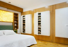Delightful Wall Mounted Cupboards Bedroom Chelsea Pivot Wall Loft Contemporary Bedroom