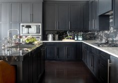 kitchen cabinets black
