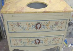 decorative hand painted furniture