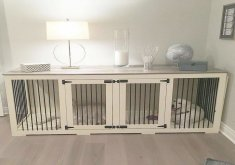 Lovely Designer Dog Crates Furniture   The First Beautiful Decorative Indoor Wooden Dog Kennel Built For Two Dogs!  Itu0027s More Than A Wooden Dog Crate, But Truly Inspiring Dog Crate Furniture!