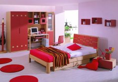 Lovely Girls Red Bedroom   Red Bedroom   TjiHome