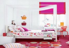 Lovely Girls Red Bedroom   Wonderful Girl Bedroom Decoration Using Pink Girl Room Chair Design Ideas :  Artistic Pink Red Bedroom