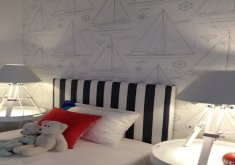 Marvelous Ralph Lauren Boys Bedroom   Ralph Lauren Sailboats #bedroom #sailboat #wallpaper Available At  Mahoneswallpapershop.com