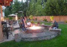 Nice Backyard Landscaping Designs   Back Yard , 5 Outstanding Backyard Fire Pit Ideas Landscaping : Backyard  Landscape Pictures