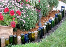 Nice Garden Crafts To Make   9 Adorable Garden Crafts To Make With Wine Bottles