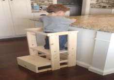 nice kid kitchen stool Child Kitchen Helper Step Stool von TeddyGramsTotTowers auf Etsy
