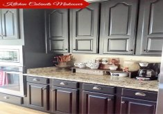 Painting Kitchen Cabinets Black   Best 25 Black Kitchen Paint Ideas On Pinterest Grey Kitchen Elegant Painting  Kitchen Cabinet
