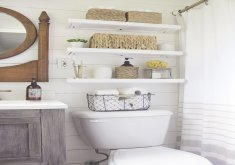 Storage For A Small Bathroom   Beach House Design Ideas: The Powder Room  . Small Bathroom StorageOrganizing  ...