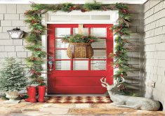 Superb Xmas Front Door Decorations   7 Ways To Decorate Your Entry For The Holidays. Christmas Front  DoorsChristmas ...