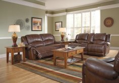 wall color with brown leather furniture