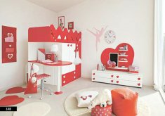 Wonderful Girls Red Bedroom   Entrancing Red Children Bedroom : Red Bedroom Designs. Bedroom .