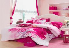 pink and white bedroom set