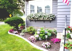 Yard House Gardens   Flower Bed Ideas For Front Of House Back Front Yard Landscaping